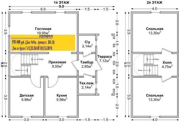 Проекты домов и коттеджей чертежи и 8 на 8